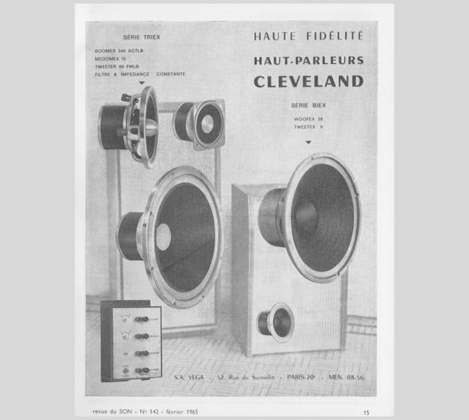Haut-parleurs Cleveland Vega développé par Michel Visan